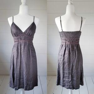 Mosimmo Gray Linen Blend Sun Dress